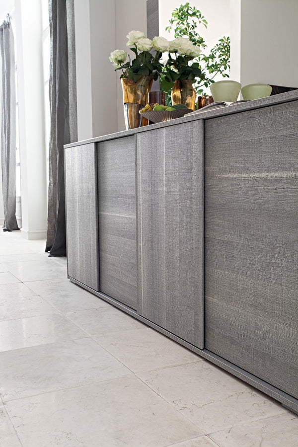 Futura Day Grey Sawmarked Italian Oak 4 Door Sideboard - AR Furnishings - Specialists In Bringing Luxury Into Your Home.