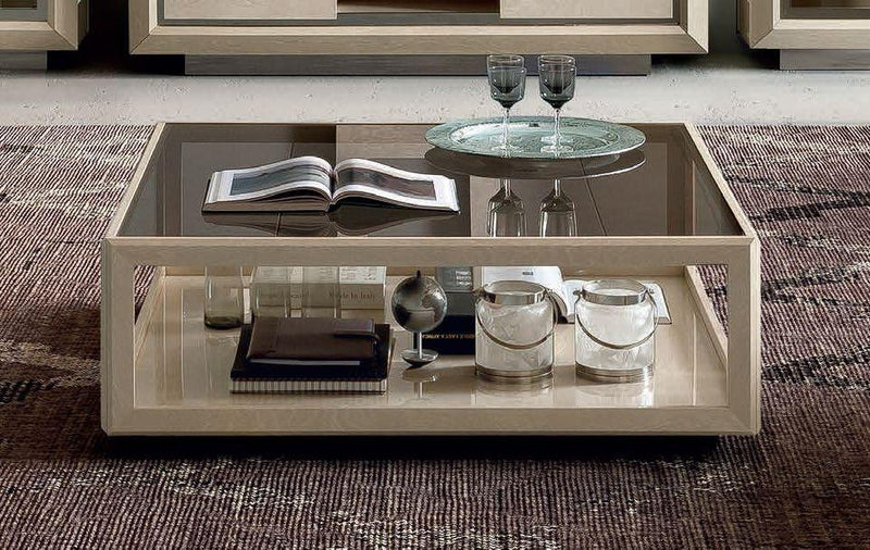 Camel Elite Day Sand Birch High Gloss  Italian Coffee Table