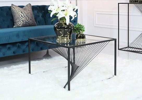 Luma Black Metal & Glass Occasional Range - AR Furnishings - Specialists In Bringing Luxury Into Your Home.