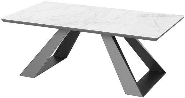 Torelli Lavante Light Grey Ceramic Marble Effect Glass Top Coffee Table
