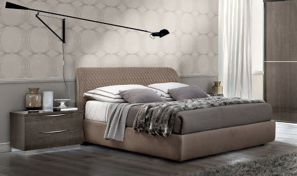 Platinum Night Letto Kleo High Gloss Italian Luna Storage Bed Frame - AR Furnishings - Specialists In Bringing Luxury Into Your Home.