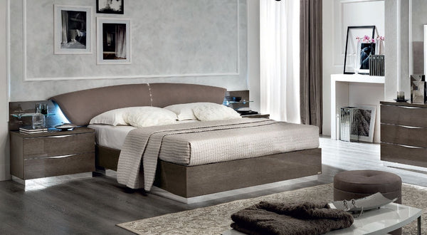 Platinum Night Letto Drop Italian High Gloss Luna Storage Ottoman Bed Frame - AR Furnishings - Specialists In Bringing Luxury Into Your Home.