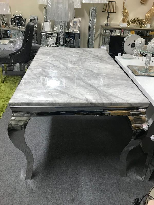 Louis Grey Marble Coffee Table - AR Furnishings - Specialists In Bringing Luxury Into Your Home.