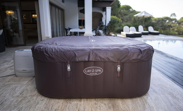 Lay-Z-Spa Maldives 2021 HydroJet Pro 7 Seater Hot Tub - Inlcudes Lid, Liner & Cover