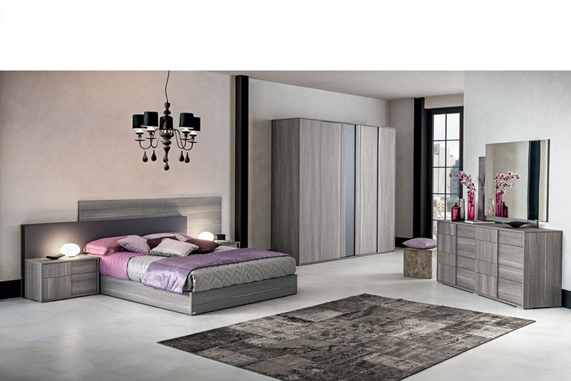 Futura Night Grey Sawmarked Italian Oak 6 Drawer Tall Chest - AR Furnishings - Specialists In Bringing Luxury Into Your Home.