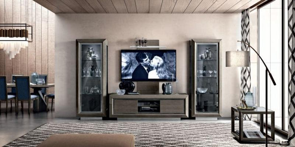 Camel Elite Day Italian 2 Door TV Cabinet - AR Furnishings - Specialists In Bringing Luxury Into Your Home.