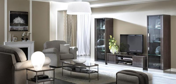 Platinum Day Italian Slim Glamour High Gloss Composition 1 - AR Furnishings - Specialists In Bringing Luxury Into Your Home.