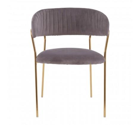 Tamzin Mink Channel Gold Finish Dining Chair