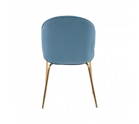 Tamzin Blue Winged Gold Finish Dining Chair