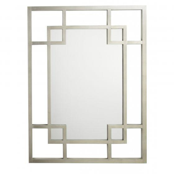 RV Astley Carn Silver Leaf Rectangular Wall Mirror