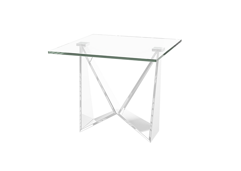 Florentina Glass Side Table - AR Furnishings - Specialists In Bringing Luxury Into Your Home.
