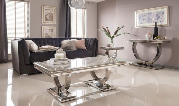 Arianna Grey or Cream Coffee Table - AR Furnishings - Specialists In Bringing Luxury Into Your Home.