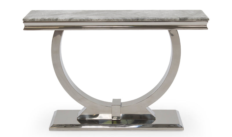 Arianna Grey or Cream Marble Console Table - AR Furnishings - Specialists In Bringing Luxury Into Your Home.