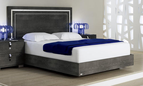 Sarah Grey Birch Italian Bed Frame - ImagineX Furniture & Interiors