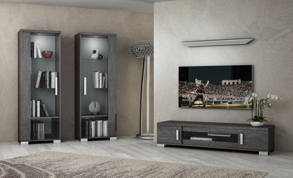 Sarah Grey Birch Modern TV and Media Living Room Set - AR Furnishings - Specialists In Bringing Luxury Into Your Home.