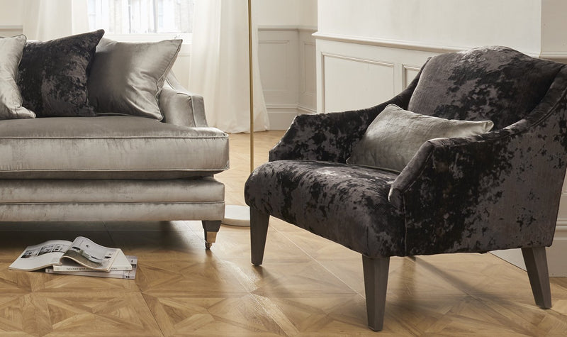 Belvedere Fabric Accent Chair with 1 Bolster - AR Furnishings - Specialists In Bringing Luxury Into Your Home.