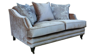 Belvedere 2 Seater Fabric Sofa with 3 Seater Scatter Cushions - Champagne - ImagineX Furniture & Interiors