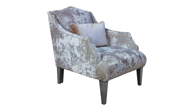 Belvedere Fabric Accent Chair with 1 Bolster - Champagne - AR Furnishings