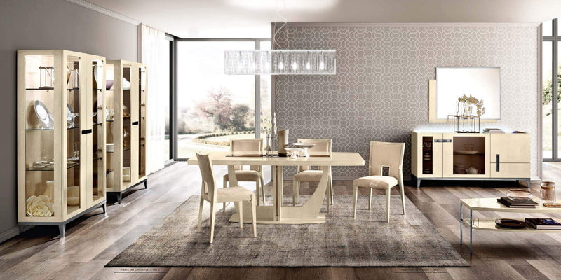 Ambra Sand Birch Finish Italian Extending 140-190cm Dining Table - AR Furnishings - Specialists In Bringing Luxury Into Your Home.