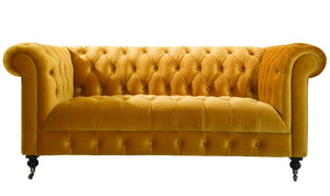 Darby 2 Seater Sofa - Mustard