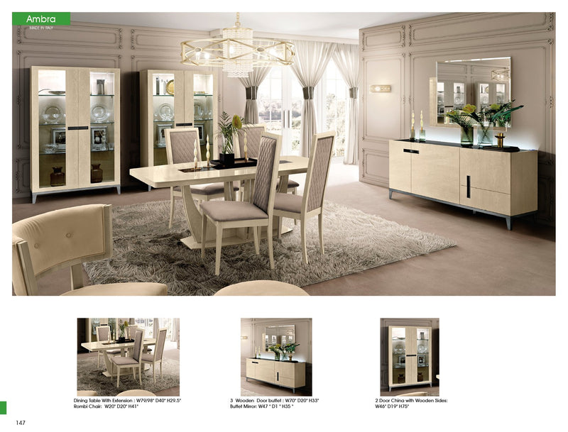 Ambra Italian Mirror - AR Furnishings - Specialists In Bringing Luxury Into Your Home.