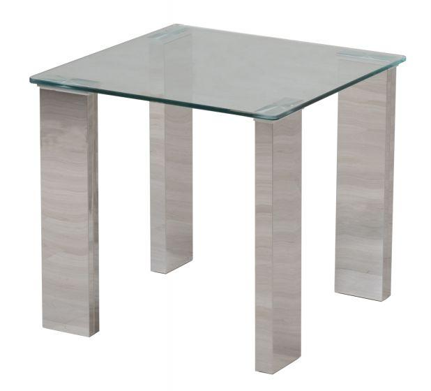 Torelli Dakota Clear Glass Side Table - AR Furnishings - Specialists In Bringing Luxury Into Your Home.