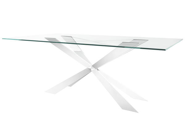 Gabriella 210cm Glass Dining Table - AR Furnishings - Specialists In Bringing Luxury Into Your Home.
