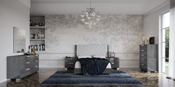 Sarah Grey Birch Italian Upholstered Bed Frame - AR Furnishings - Specialists In Bringing Luxury Into Your Home.