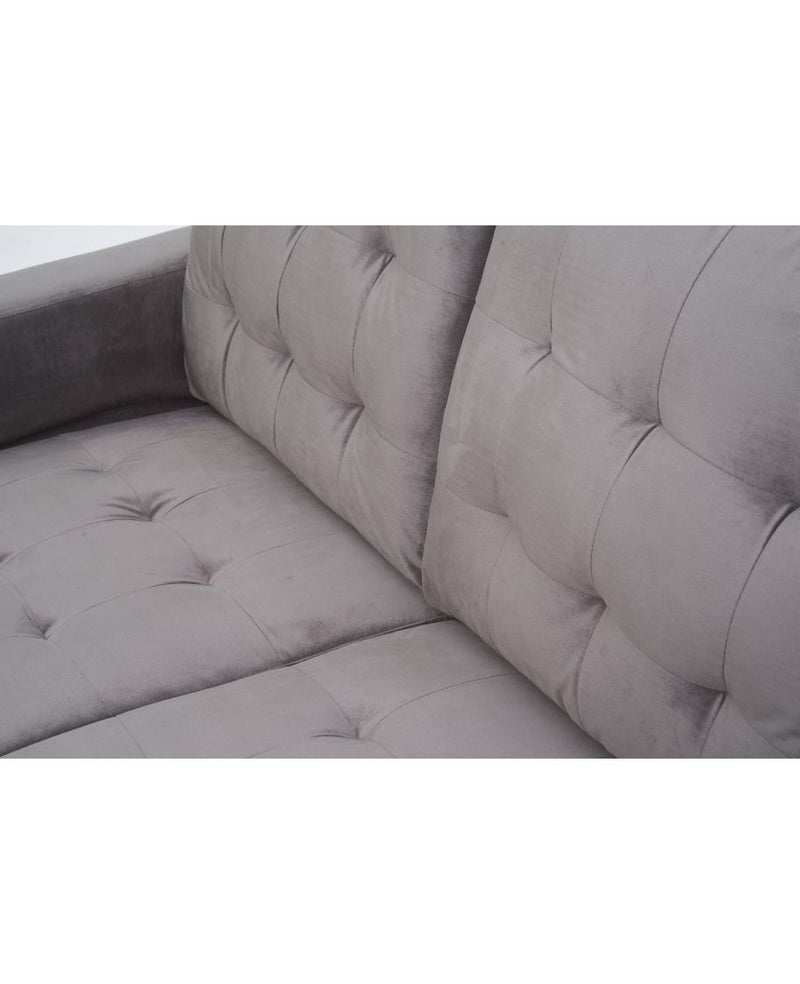 Lillian Grey Velvet 2 Seater Sofa - AR Furnishings - Specialists In Bringing Luxury Into Your Home.