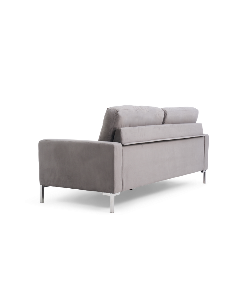 Lillian Grey Velvet 3 Seater Sofa - AR Furnishings - Specialists In Bringing Luxury Into Your Home.