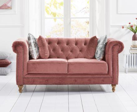 Montrose Blush Plush 2 Seater Sofa - AR Furnishings - Specialists In Bringing Luxury Into Your Home.