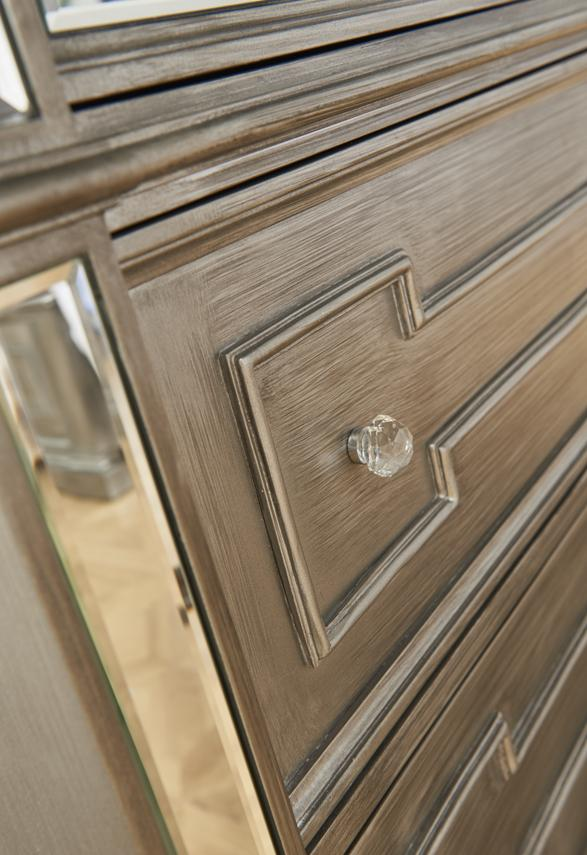 Ophelia 5 Drawer Tall Chest - AR Furnishings - Specialists In Bringing Luxury Into Your Home.