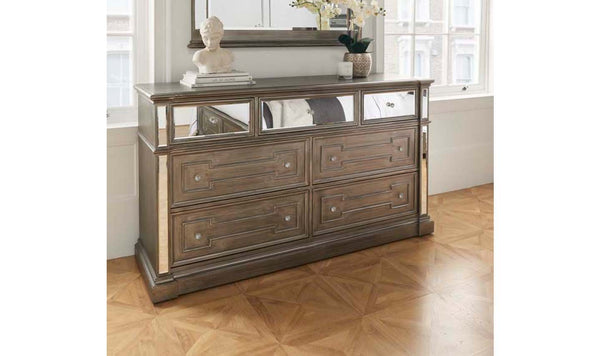 Ophelia 6 Drawer Dressing Chest - AR Furnishings - Specialists In Bringing Luxury Into Your Home.