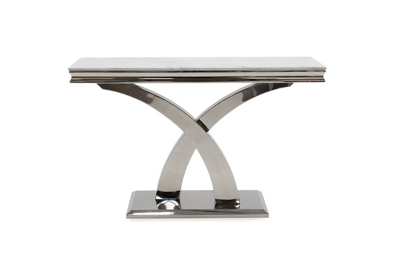 Ottavia Bone White Marble Console Table - AR Furnishings - Specialists In Bringing Luxury Into Your Home.