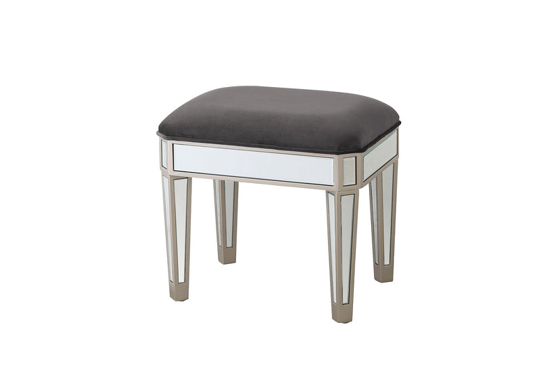 Rosa Mirror Dressing Stool - AR Furnishings - Specialists In Bringing Luxury Into Your Home.