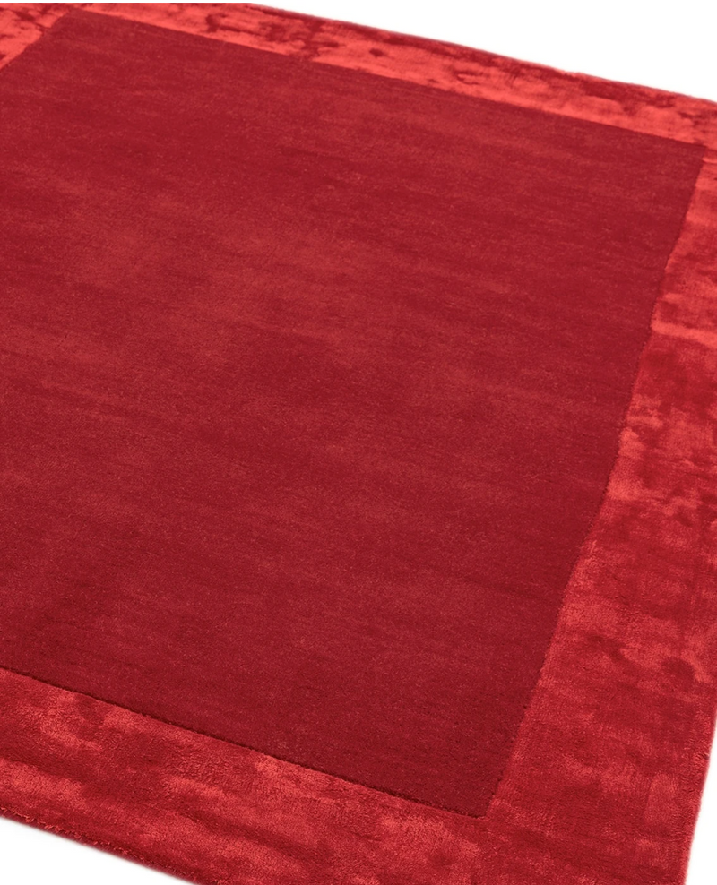 Ascot Rug - Red - AR Furnishings - Specialists In Bringing Luxury Into Your Home.
