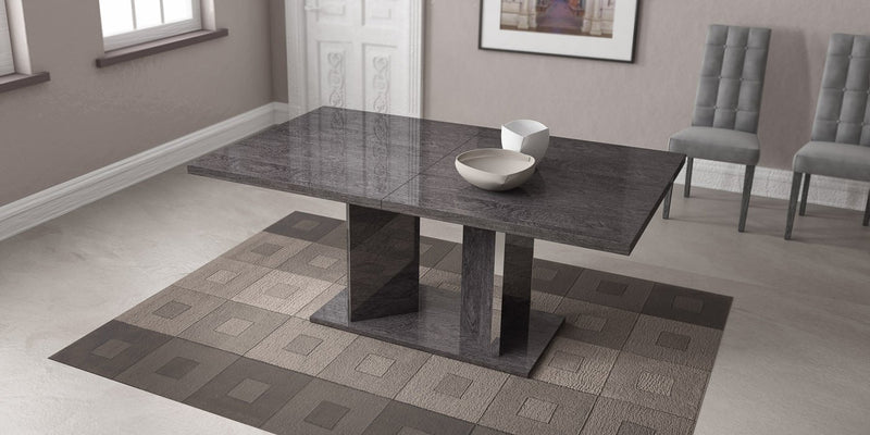 Sarah Grey Birch Italian Extending Dining Table + Chairs Set - AR Furnishings - Specialists In Bringing Luxury Into Your Home.