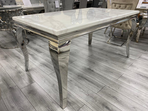 LOUIS WHITE MARBLE DINING TABLE SIZES AVAILABLE