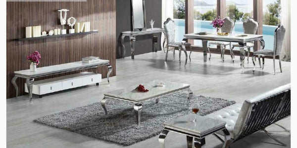 Louis Grey Marble 160cm TV Unit - AR Furnishings - Specialists In Bringing Luxury Into Your Home.