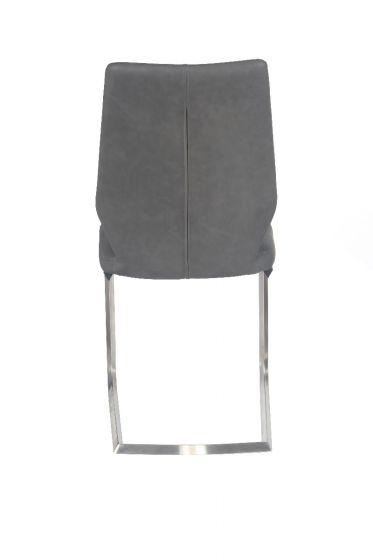 Agata Grey Leather Dining Chair - AR Furnishings - Specialists In Bringing Luxury Into Your Home.