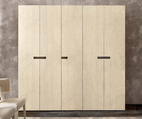Ambra Sand Birch Finish Italian 5 Door Wardrobe - ImagineX Furniture & Interiors