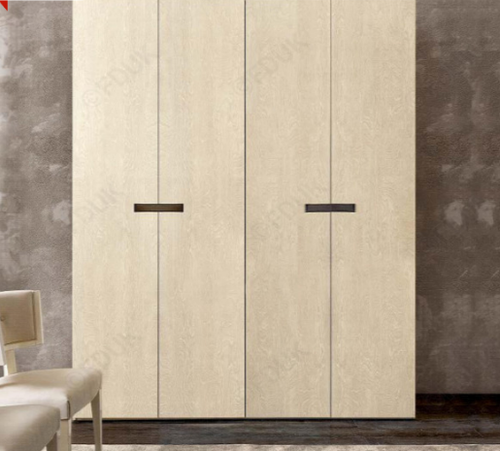 Ambra Sand Birch Finish Italian 4 Door Wardrobe - ImagineX Furniture & Interiors