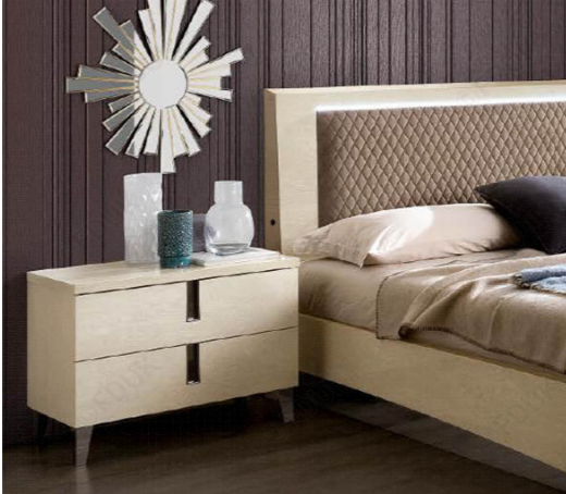 Ambra Silver Birch Finish Rombi Bed Frame - AR Furnishings - Specialists In Bringing Luxury Into Your Home.