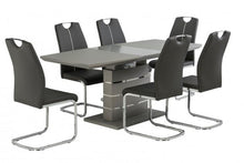 Load image into Gallery viewer, Argenta Grey High Gloss 140-180cm Dining Set + 6 Chairs
