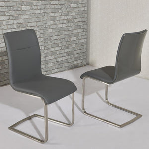 Arielle Grey Modern Dining Chair (Set of 2) - ImagineX Furniture & Interiors