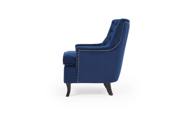 Barney Velvet Accent Chair - AR Furnishings - Specialists In Bringing Luxury Into Your Home.