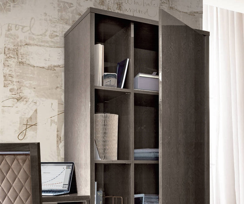Platinum Night Italian High Gloss Bookcase - AR Furnishings - Specialists In Bringing Luxury Into Your Home.