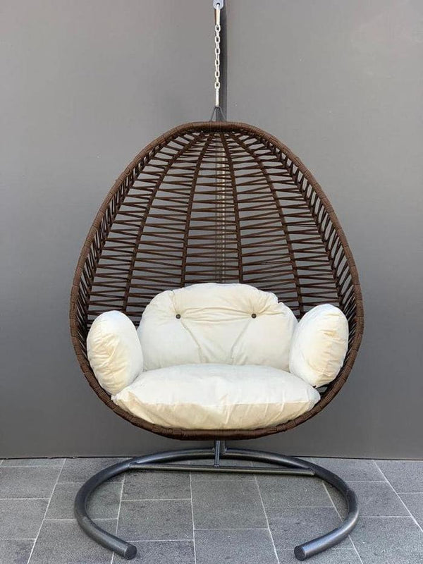 Garden Egg Chair Lounger Swinging Luxury With Cushions In 6 Colours