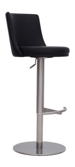Bruno Black Leather Barstool - AR Furnishings - Specialists In Bringing Luxury Into Your Home.