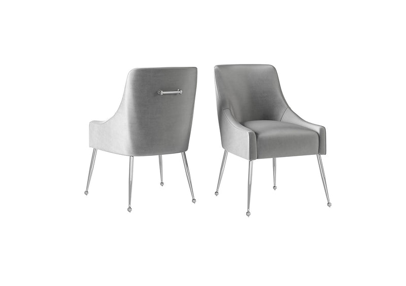 Claudia Velvet and Chrome Dining Chair (Pair)